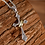 Thumbnail: Silver Jesus cross ring pendant sterling silver 925