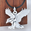 Thumbnail: Silver eagle men's pendant sterling silver 999