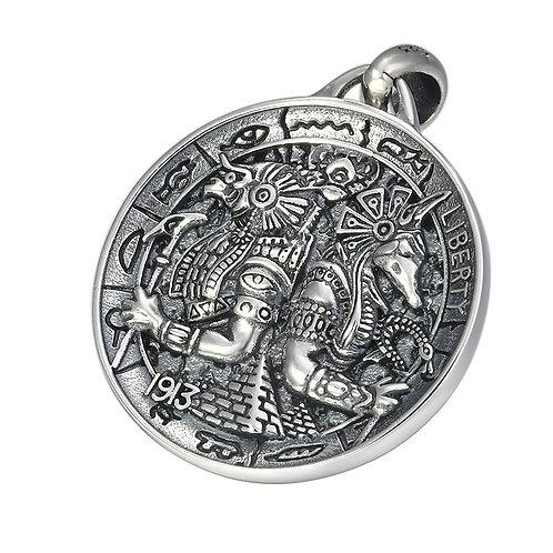Retro silver unique design Anubis pendant sterling silver 925