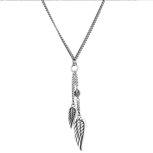 Silver angle's wing fashion sweater pendant sterling silver 925
