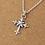 Thumbnail: Retro silver fashion design cross men's pendant sterling silver 925