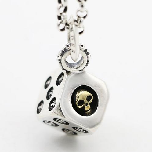 Silver creative design skull dice pendant sterling silver 925