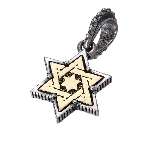 Easy-matching silver letter pentagram pendant sterling silver 925
