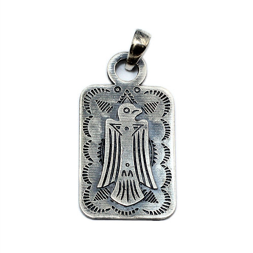 Indian Thunderbird pendant sterling silver 925 punk style