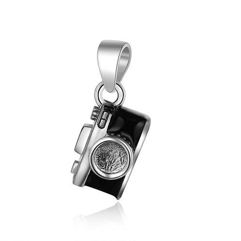 Silver fashion simple design camera pendant sterling silver 925