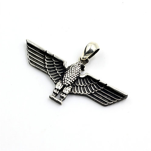 Easy-matching eagle pendant sterling silver 925 retro style