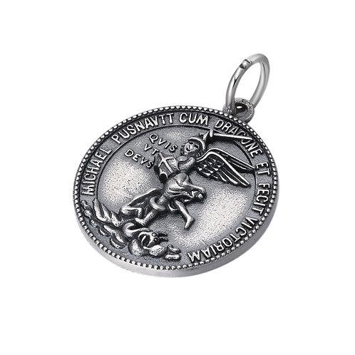 Fashion silver angel Michael pendant sterling silver 925