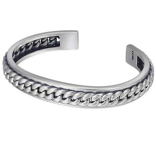 Korean style fashion simple design knit bracelet sterling silver 925