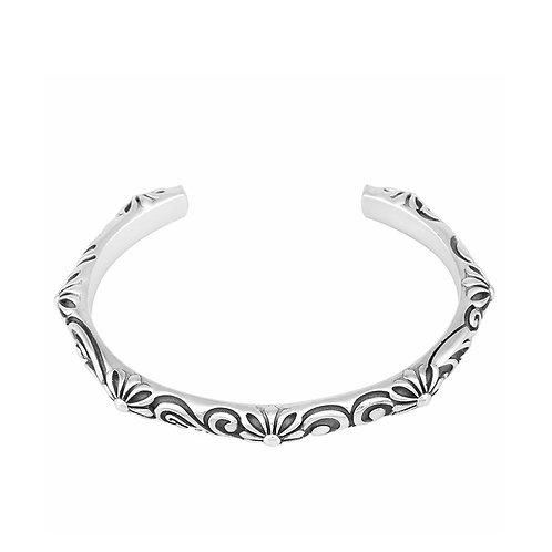 Opened silver retro fashion easy-matching cross men bracelet sterling silver 925