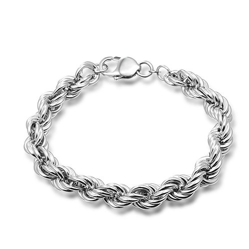 Silver twist type fashion design bracelet sterling silver 925
