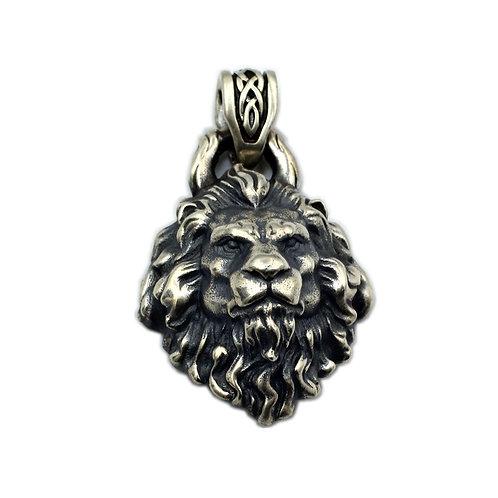Lion Leo fashion pendant sterling silver 925 retro style
