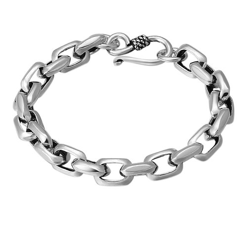 Unique easy-matching rectangle knot bracelet sterling silver 925