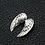Thumbnail: Angel wings easy-matching pendant sterling silver 925 Korean style