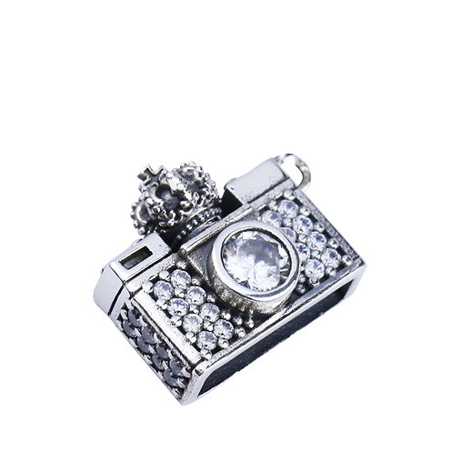 Silver simple design camera easy-matching pendant sterling silver 925