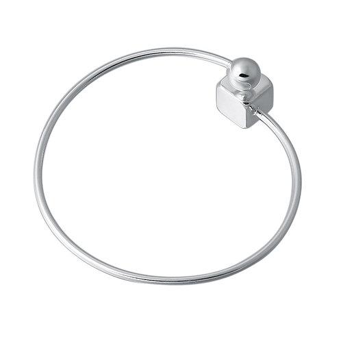 Retro square round circle simple design bracelet sterling silver 925