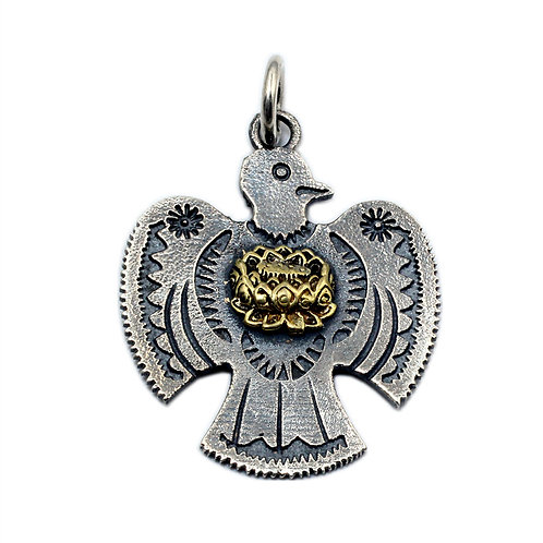 Indian Thunderbird pendant sterling silver 925