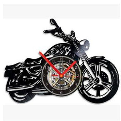 Custom-made Hot Sale Gramophone Record Motrocycle Wall Clock