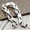 Thumbnail: Unique simple design flame phoenix tail bracelet sterling silver 925