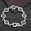 Thumbnail: Korean style fashion hollow-out retro bracelet sterling silver 925