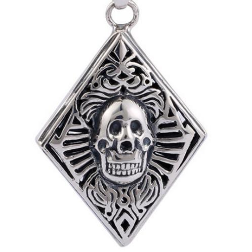 Silver retro fashion punk skull pendant sterling silver 925