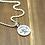 Thumbnail: Retro punk round tag skull pendant sterling silver 925