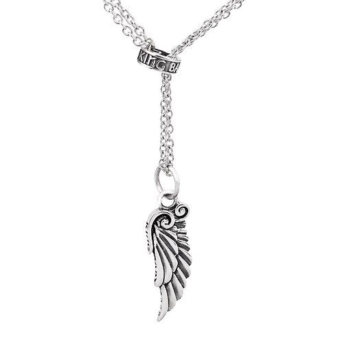 Simple design fashion easy-matching feather pendant sterling silver 925