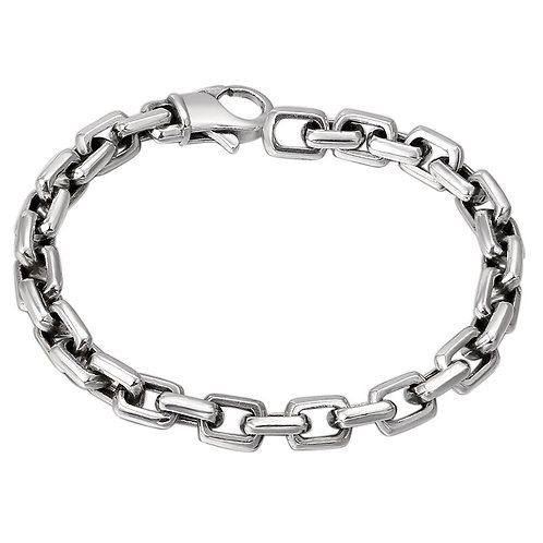 Classic easy-matching retro square buckle men's bracelet sterling silver 925