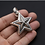 Thumbnail: Silver punk pentagram star pendant sterling silver 925