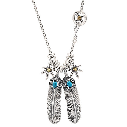 Fashion silver goro feather pendant sterling silver 925