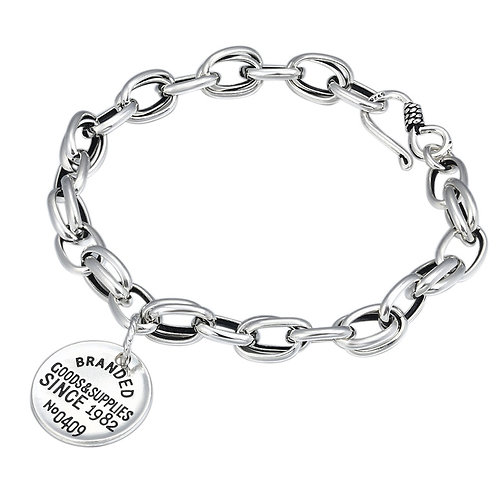 Silver fashion design unique style letter tag bracelet sterling silver 925