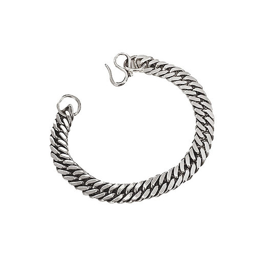 Silver simple fashion design horsewhip bracelet sterling silver 925