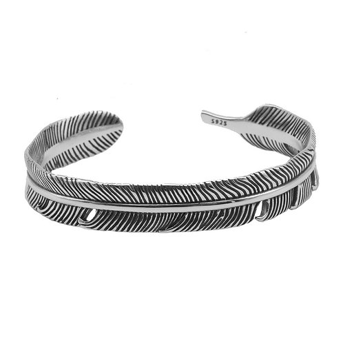 Retro Indian style easy-matching bracelet sterling silver 925