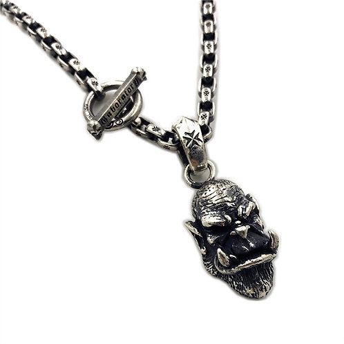 World of Warcraft Orgrim pendant sterling silver 925 punk style