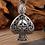 Thumbnail: Silver retro peach heart pendant sterling silver 925