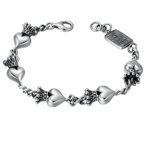 Korean style fashion simple design crown bracelet sterling silver 925