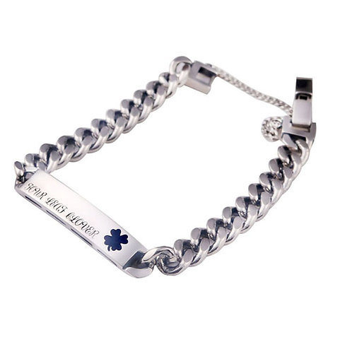 Korean style custom-made fashion clover bracelet sterling silver 925