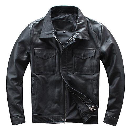 Men's Premium Cow Leather Bomber Jacket