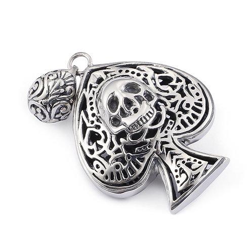 Silver retro peach heart pendant sterling silver 925
