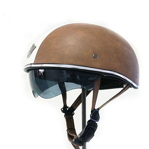 Superior Quality PU Leather ABS Customize Motrocycle Helmet