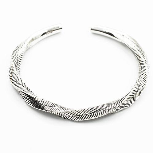 Fashion design leaf feather bracelet sterling silver 925