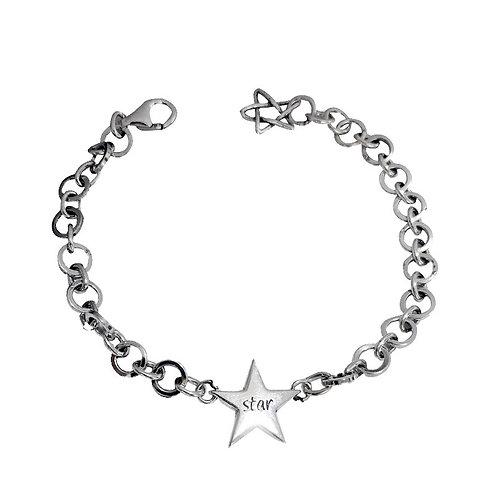 Silver fashion design style round circle bracelet sterling silver 925