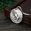 Thumbnail: Fashion alphabet tag pendant sterling silver 925 retro style