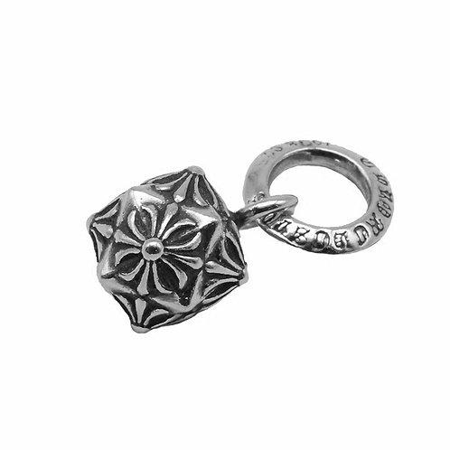 Easy-matching sweater cross diamond ball pendant sterling silver 925