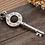 Thumbnail: Retro Gothic silver key pendant sterling silver 925