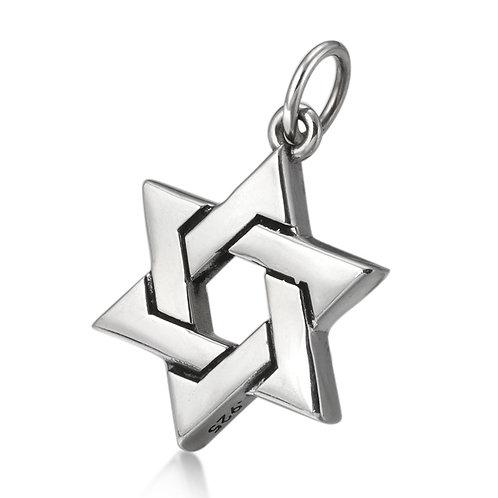 Korea fashion hexagram star pendant sterling silver 925