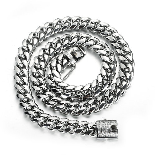 Cuban style men's stainless steel 316L necklace