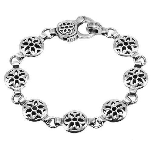 Simple design glaze sakura easy-matching bracelet sterling silver 925