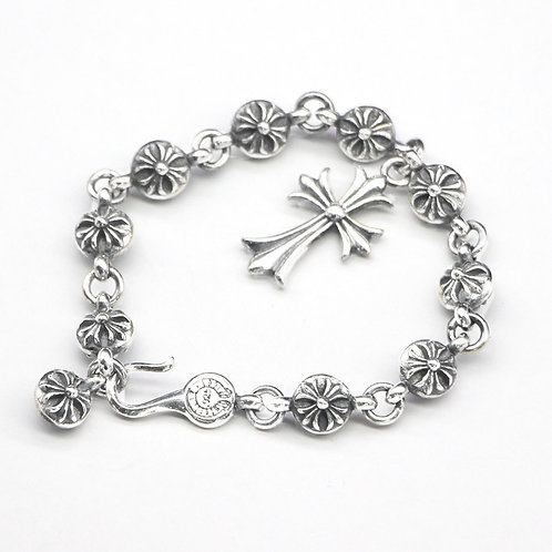 Silver fashion unique design cross bracelet sterling silver 925