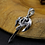 Thumbnail: Silver retro axe cross men's pendant sterling silver 925
