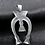 Thumbnail: Indian totem pendant sterling silver 925 retro style